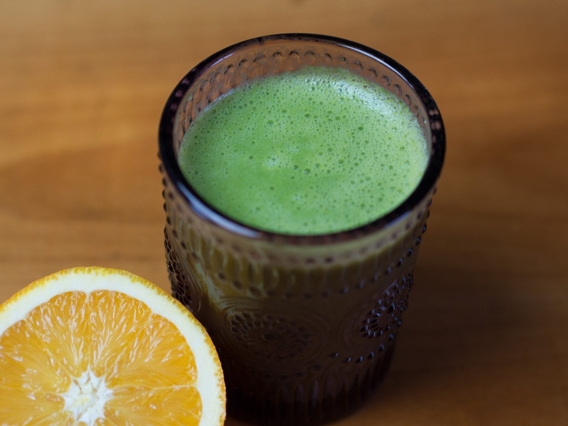 green citrus juice