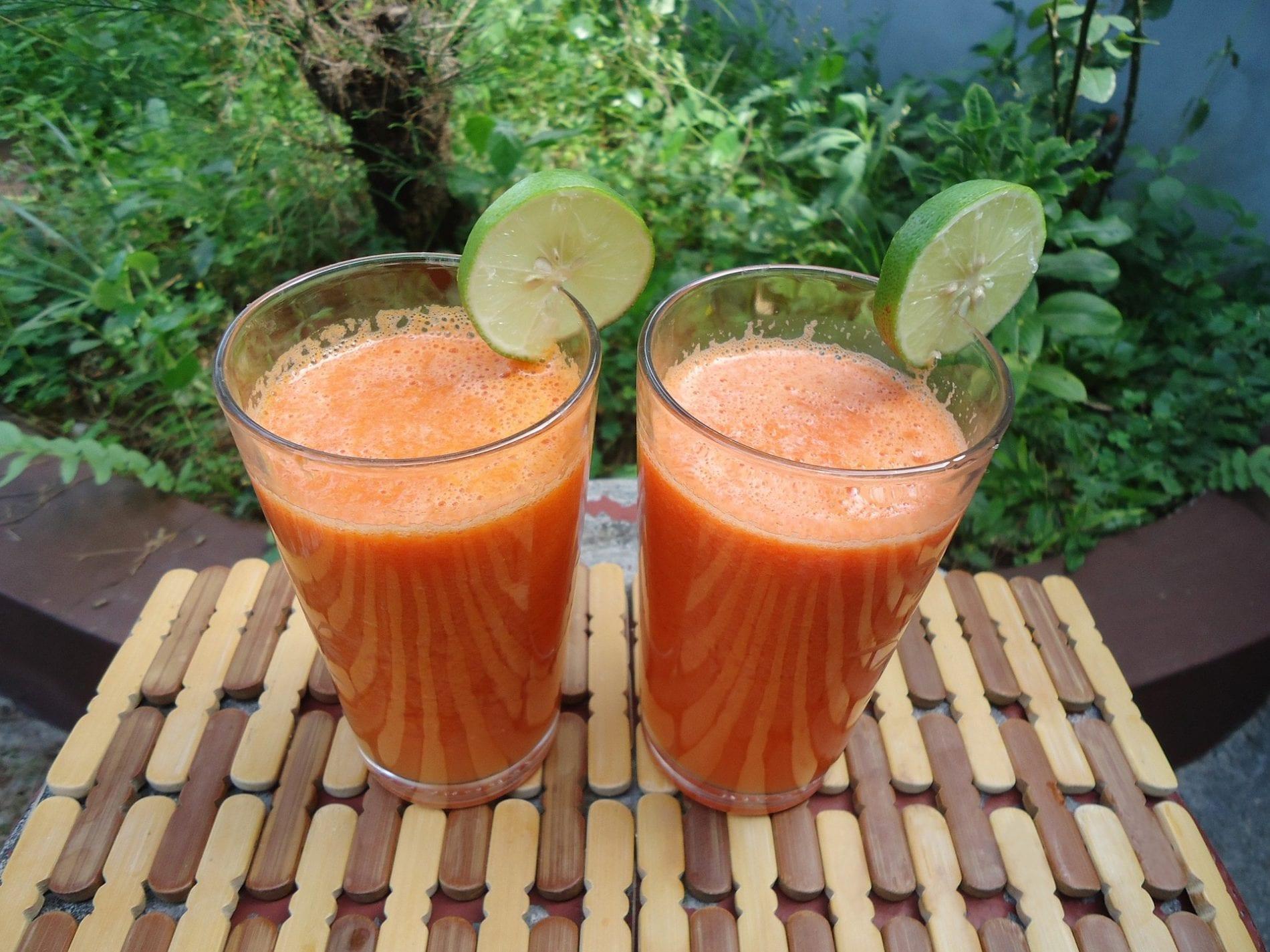 carrot kale juice