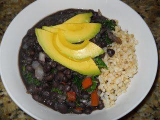 black beans kale