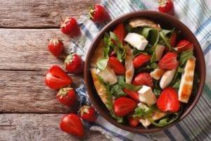 Chicken Watermelon Strawberry Salad