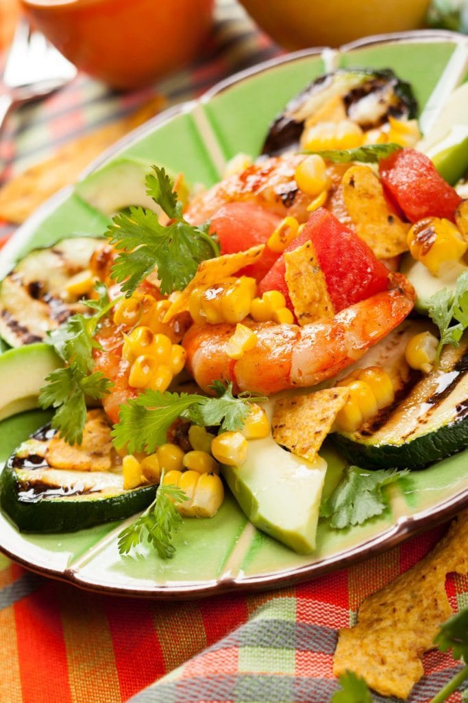 Roasted Veggie Shrimp Salad