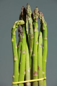 this weeks organic harvest Asparagus