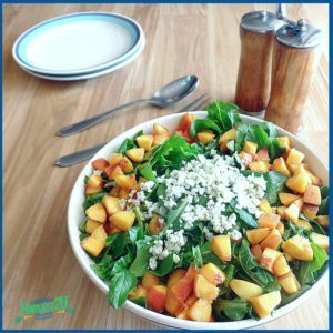 Peach and Arugula Salad