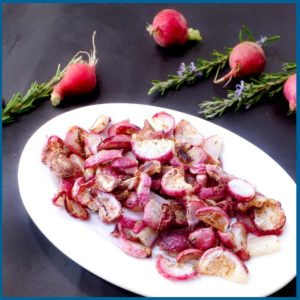 Parmesan Rosemary Radishes