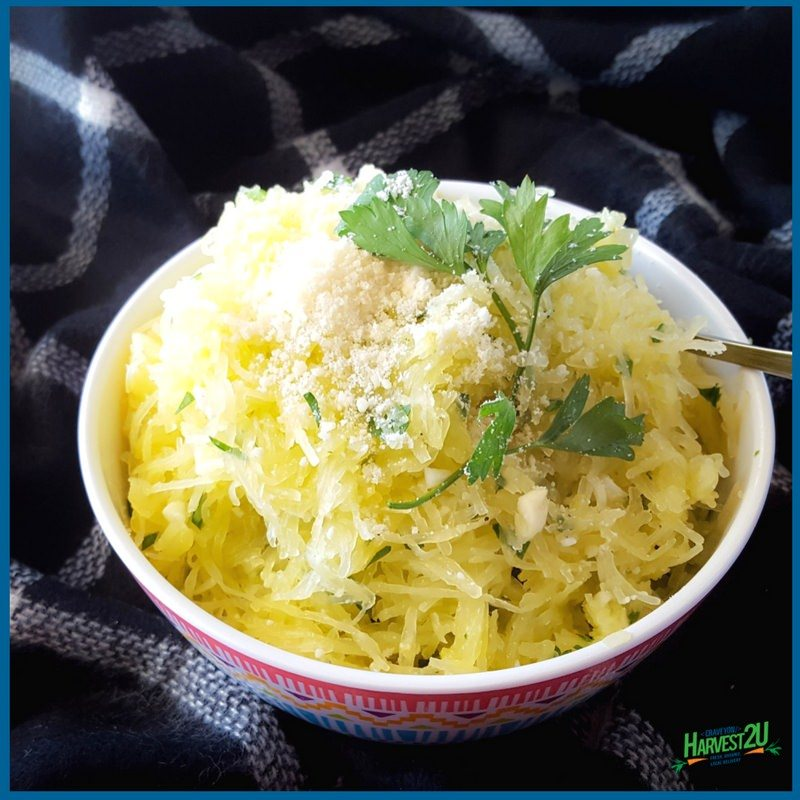 Herb and Garlic Spaghetti Squash