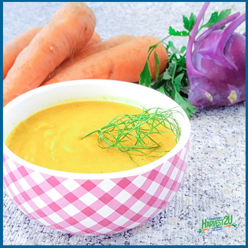 Carrot Kohlrabi Soup