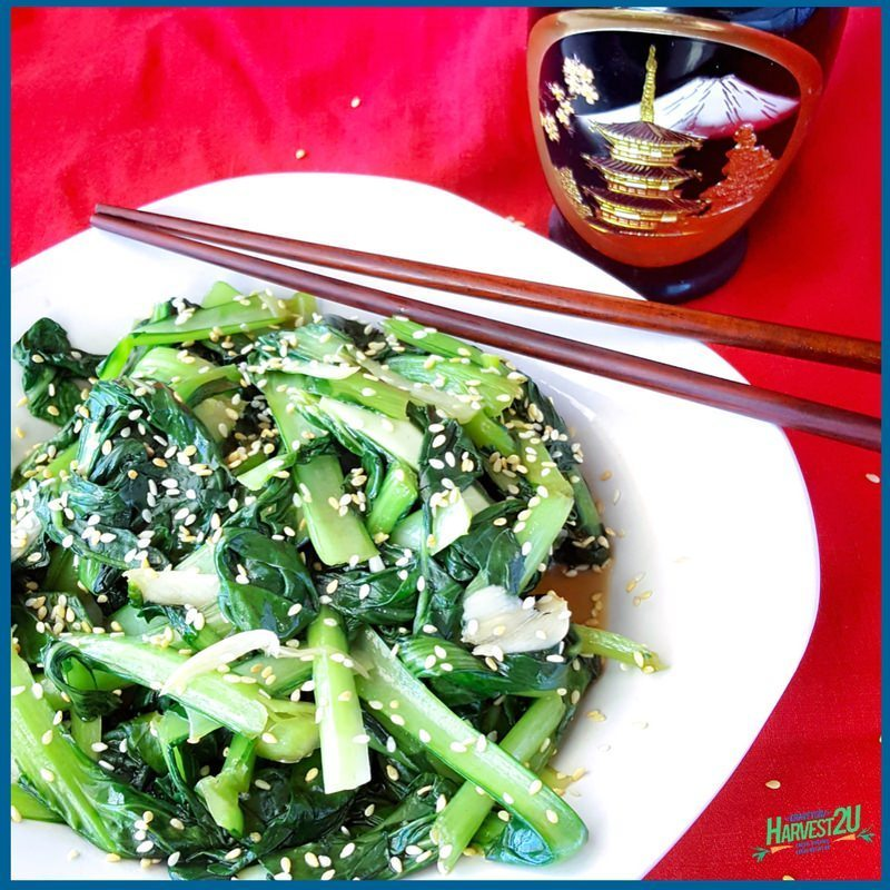 Stir Fried Sesame Tatsoi