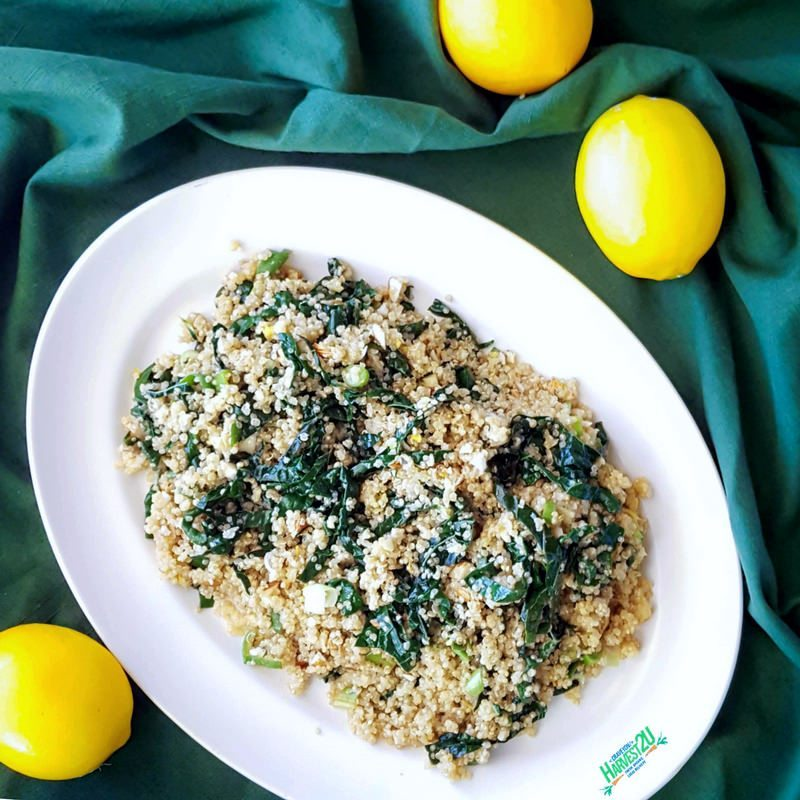 Lemony Kale and Quinoa