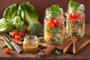 storing greens in mason jars