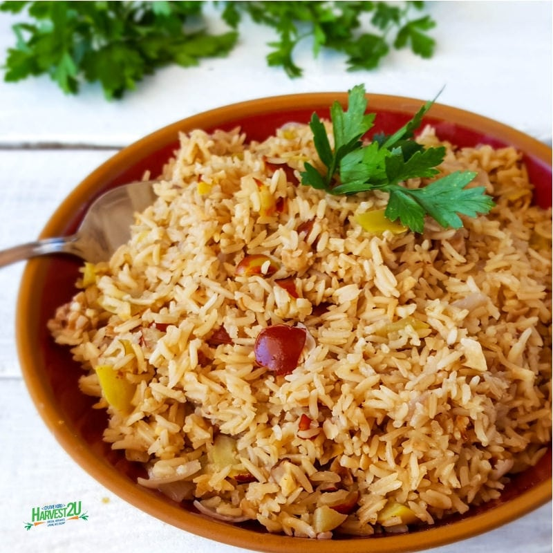Jujube Pecan Rice Pilaf