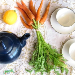 carrot leaf tea