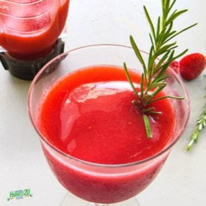 Strawberry Rosemary Wine Slushies