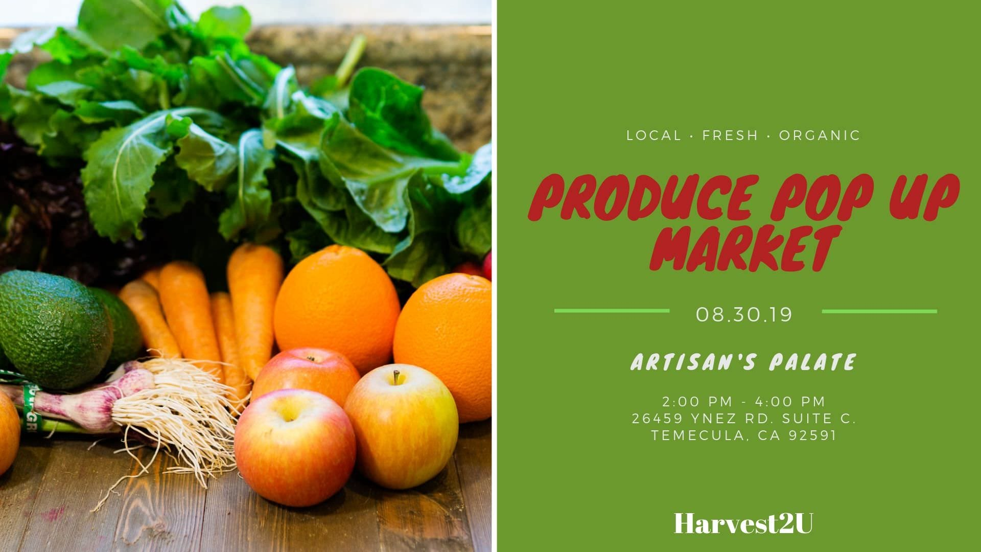produce pop up market