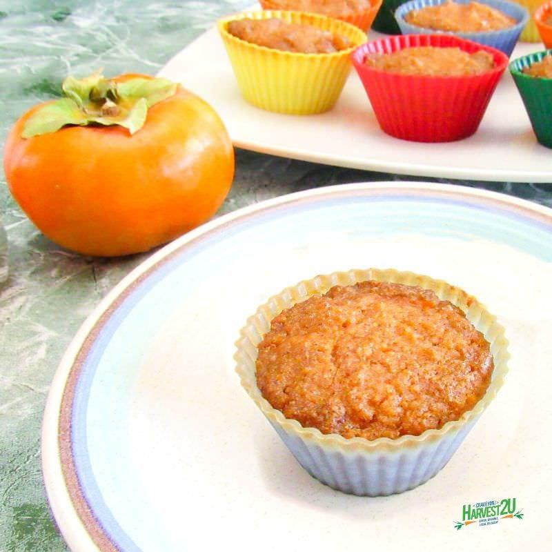 Maple Persimmon Muffins