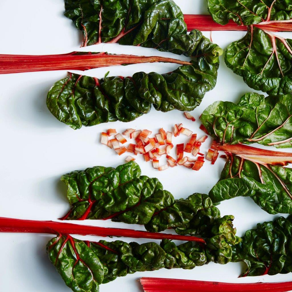 swiss chard with onions and vinegar