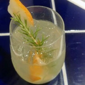 Asian Pear and Rosemary Spritz