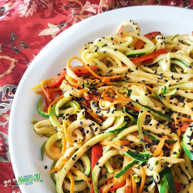 Garlic Sesame Zoodles