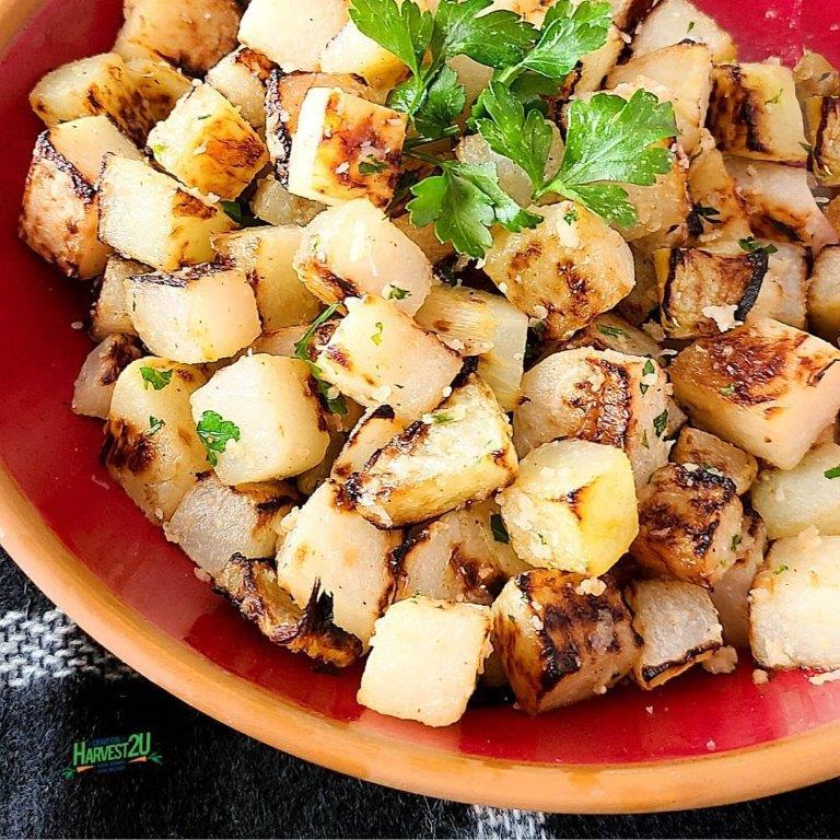 Parmesan Roasted Kohlrabi