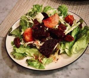 roasted beet and kohlrabi salad