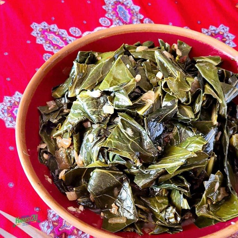 Vegan Braised Collard Greens