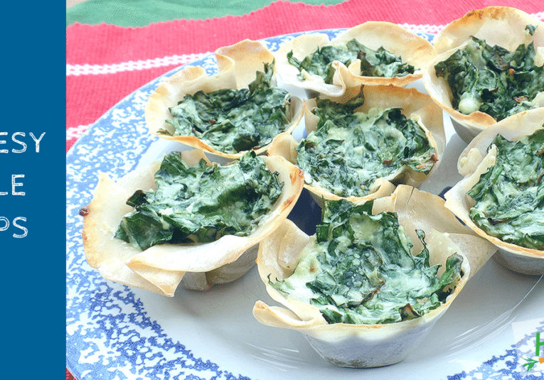 Cheesy Kale Cups