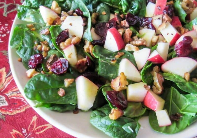 Cranberry Apple Spinach Salad sq-800