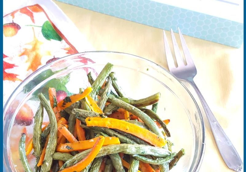 Garlic Roasted Carrots and Green Beans