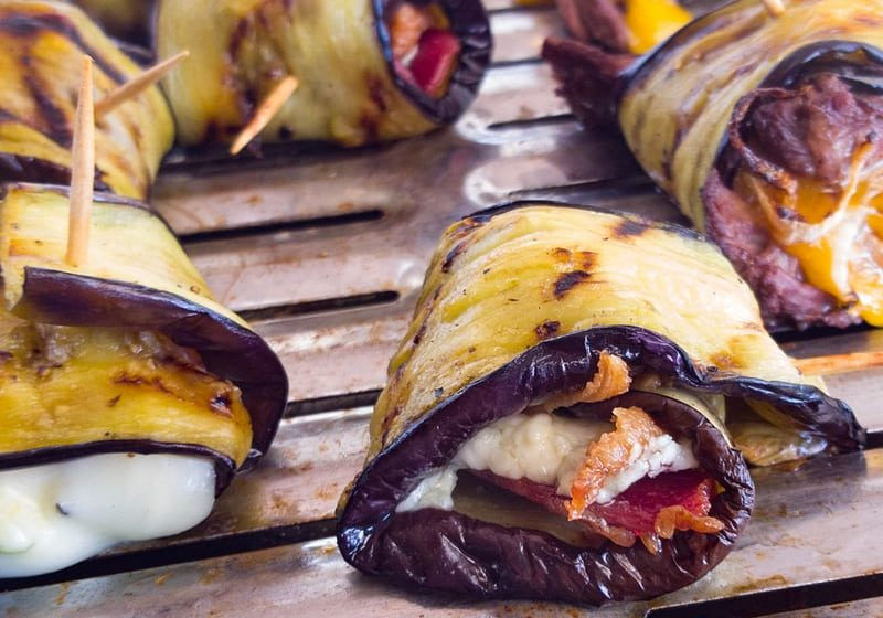 Grilled Eggplant Roulades