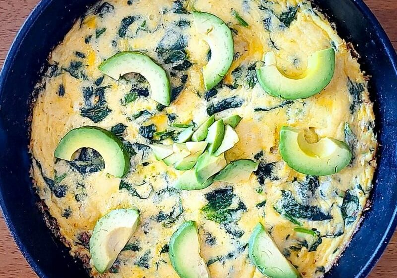 Spinach Shrimp Frittata