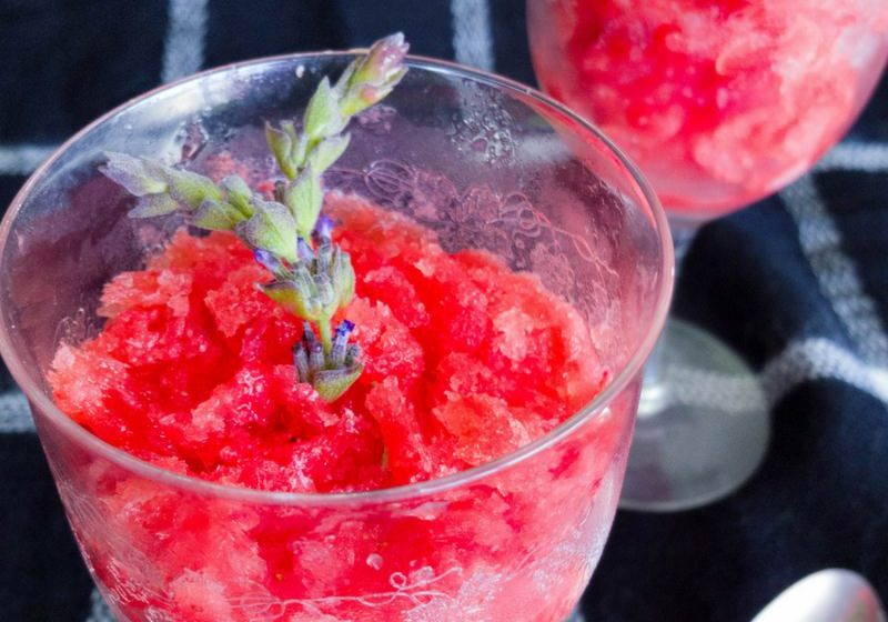 Strawberry Grapefruit Granita Recipe