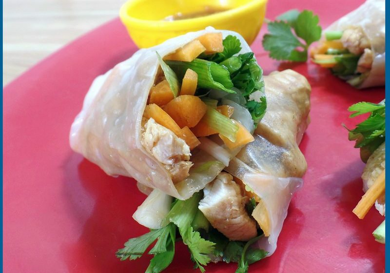 asian chicken wraps