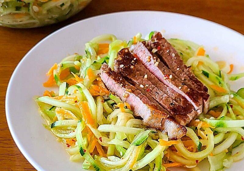 Spicy Garlic Cucumber Salad